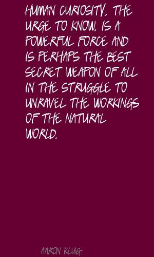 Aaron Klug's quote #3