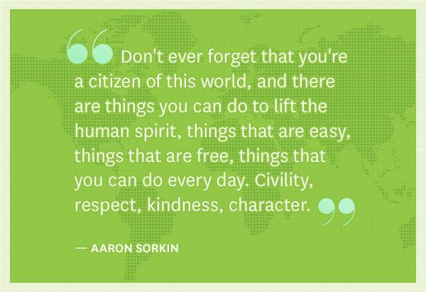 Aaron Sorkin's quote #2