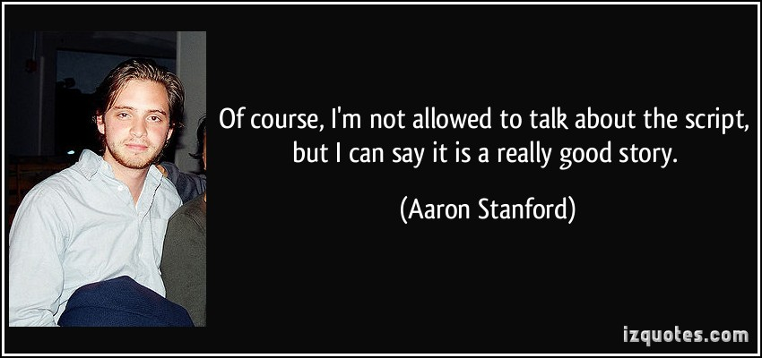 Aaron Stanford's quote #2