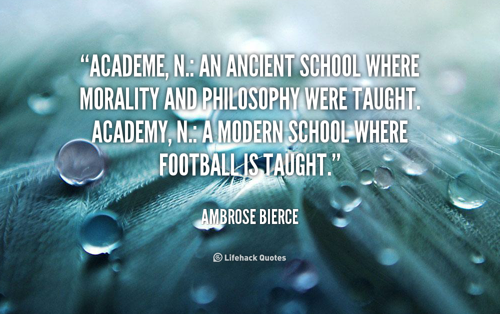 Academe quote #2