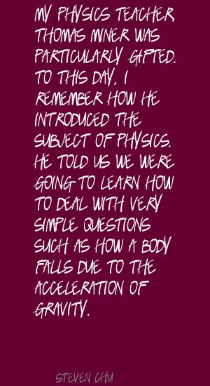Acceleration quote #2