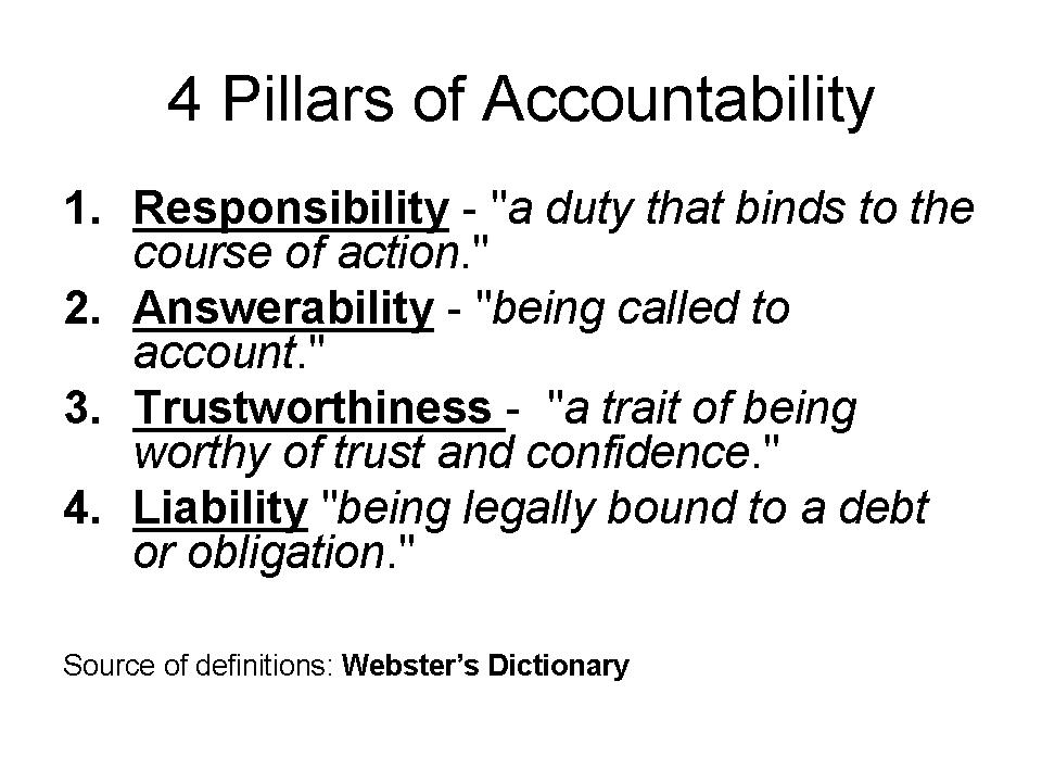 Accountability quote #1