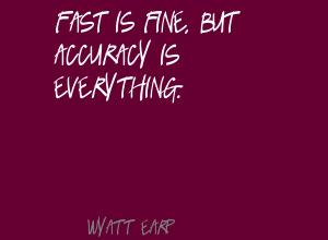 Accuracy quote #2