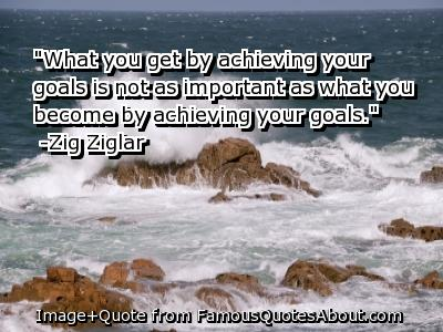 Achieving quote #4