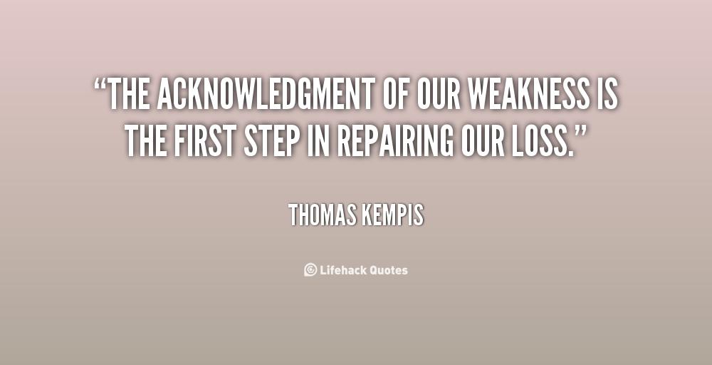 Acknowledgment quote