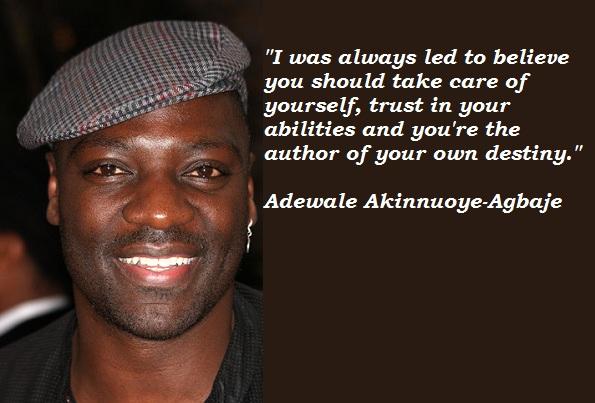 Adewale Akinnuoye-Agbaje's quote #7