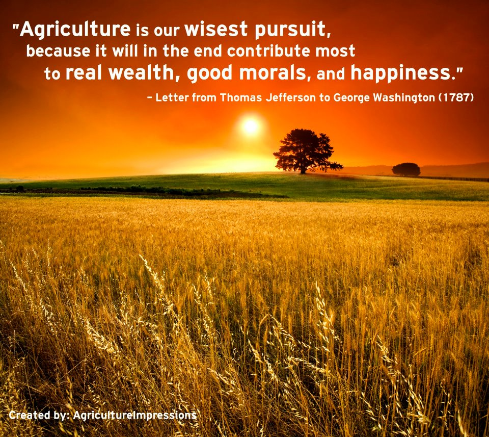 Farming Quotes Famous Quotes About 'agriculture'  Sualci Quotes