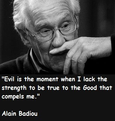 Alain Badiou's quote #1