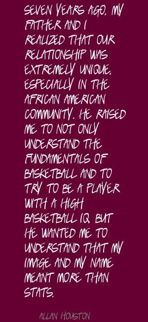 Allan Houston's quote #2