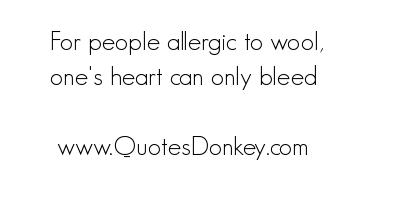 Allergic quote #1