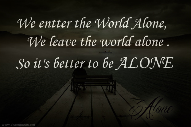 Alone quote #8