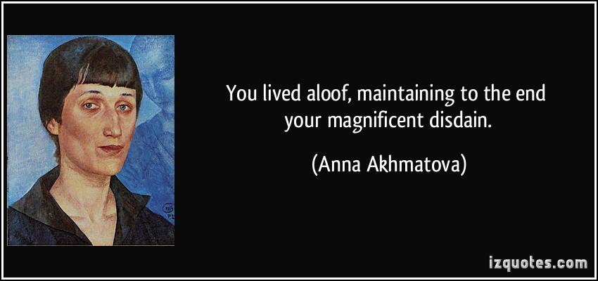 Aloofness quote #1