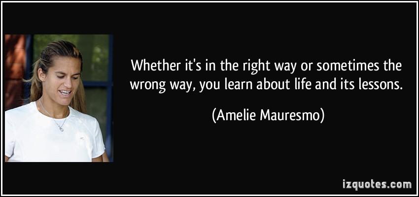 Amelie Mauresmo's quote #1
