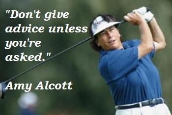 Amy Alcott's quote #1