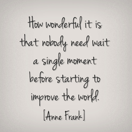 Anne Frank's quote
