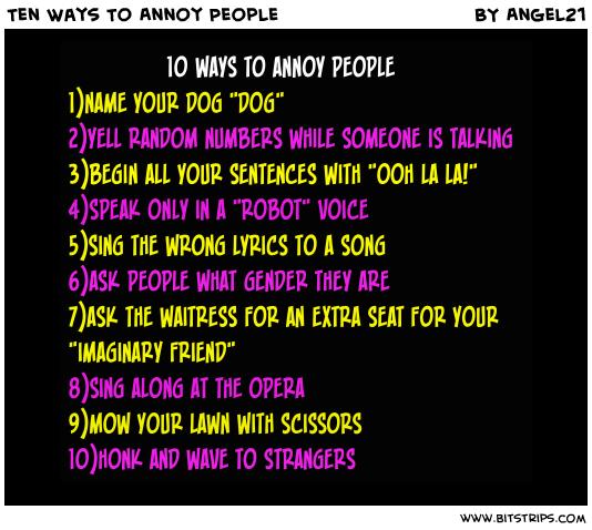 Annoy quote #1