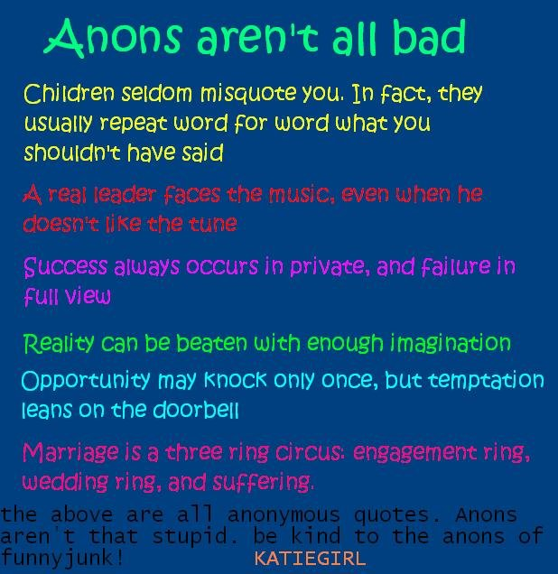 Anon quote #2