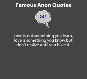 Anon quote #1