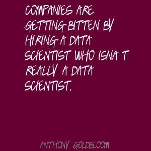 Anthony Goldbloom's quote