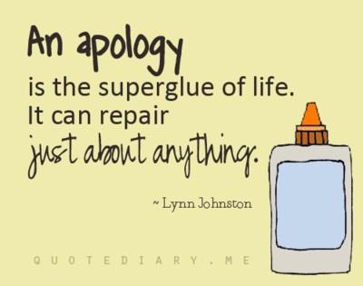 Apologise quote #1