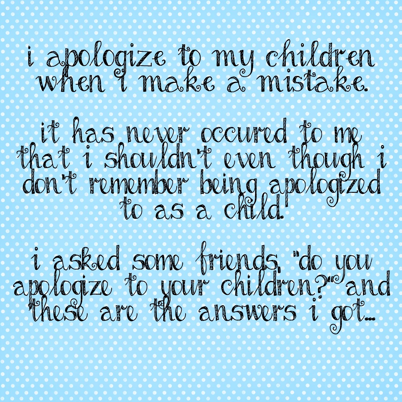 Apologizing quote #2