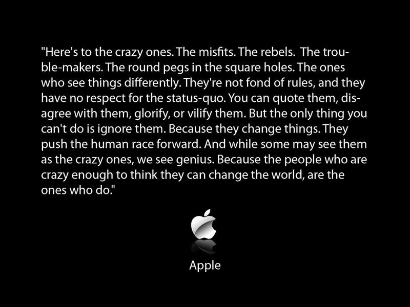 Apple quote #1