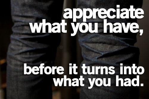 Appreciate quote #5