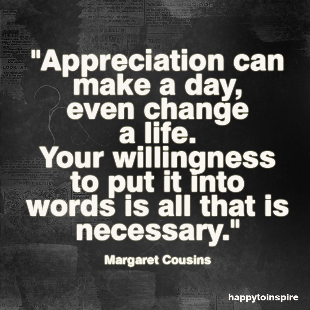 Appreciate quote #7