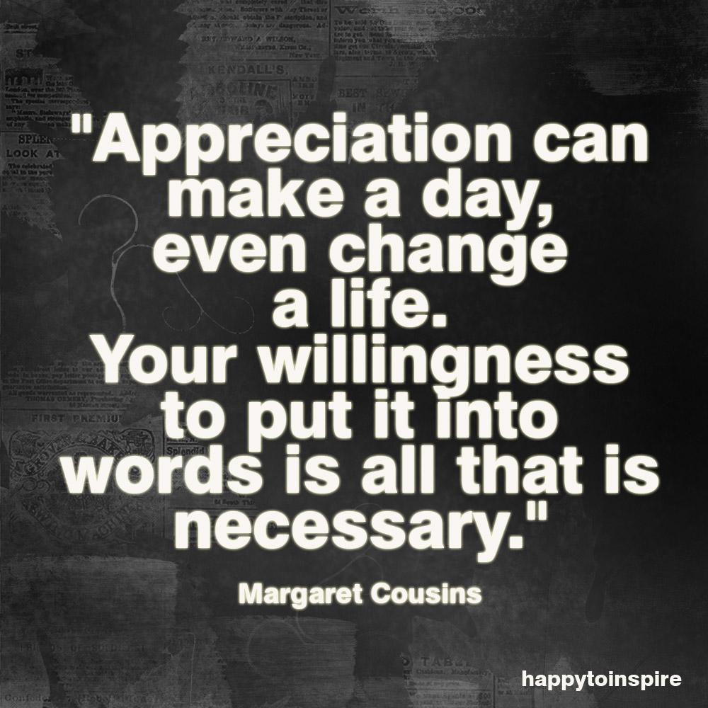 Appreciation quote #1