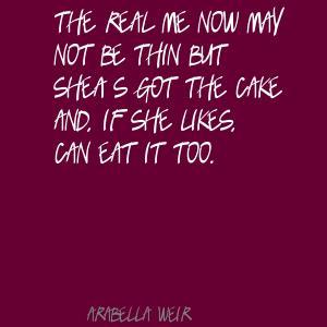 Arabella Weir's quote #4