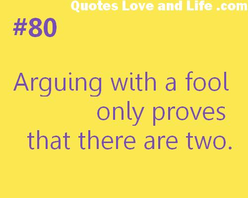 Arguing quote #1
