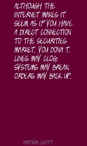 Arthur Levitt's quote #7