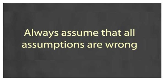 Assumption quote #3