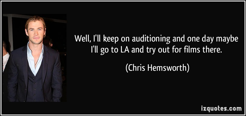 Auditioning quote #2