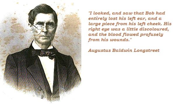Augustus Baldwin Longstreet's quote #4