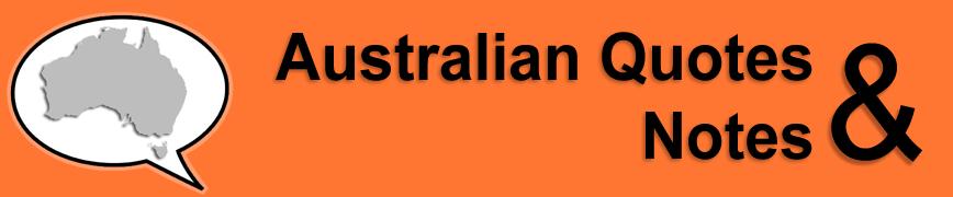 Australian quote #2