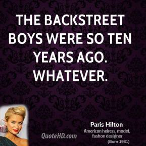 Backstreet quote #1