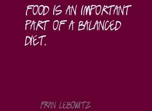 Balanced Diet quote #1