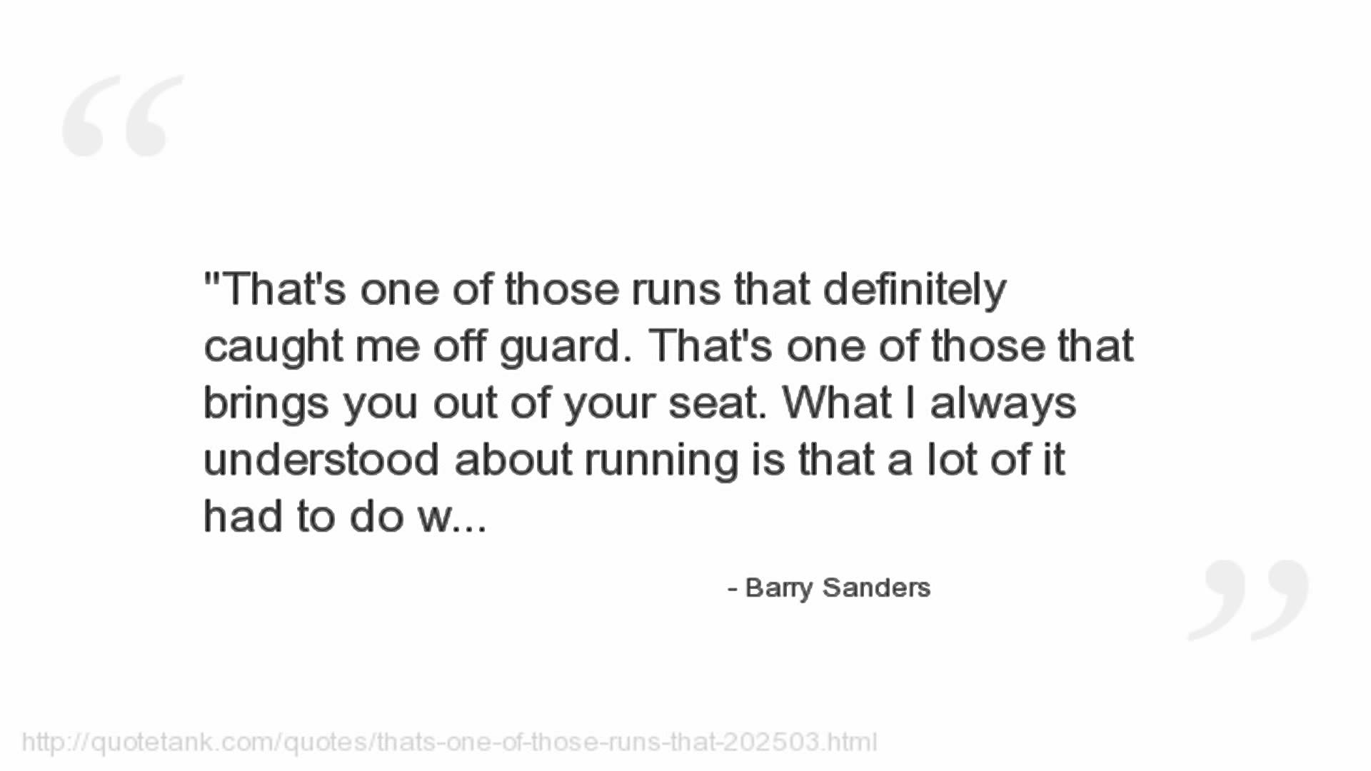 Barry Sanders's quote #3