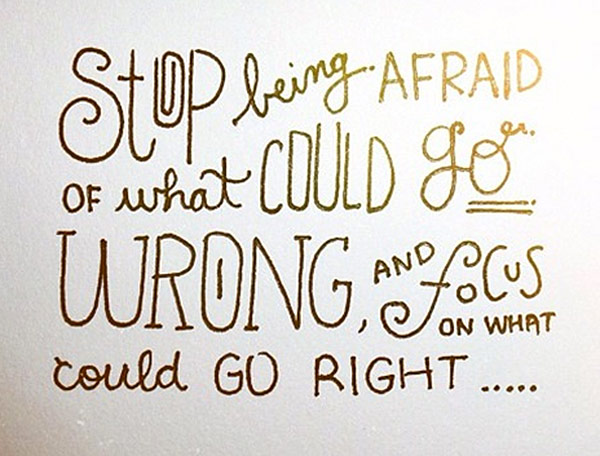 Being Afraid quote #2