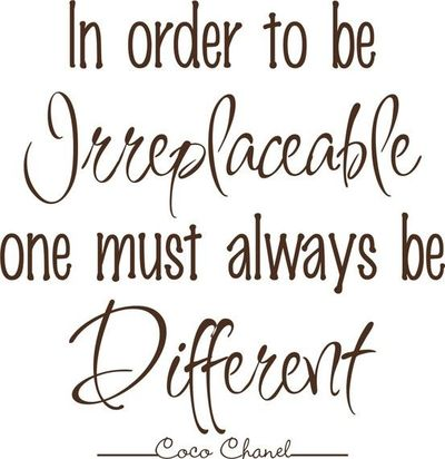 Being Different quote