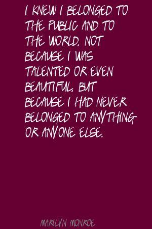 Belonged quote #2
