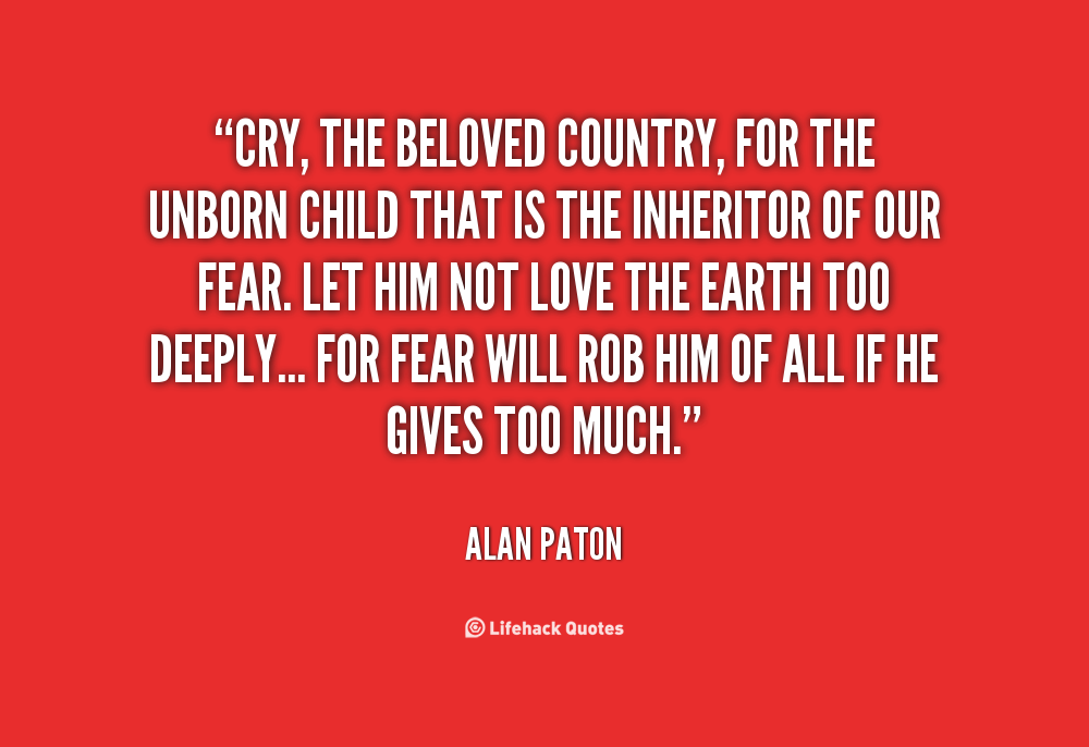 Beloved Country quote #2