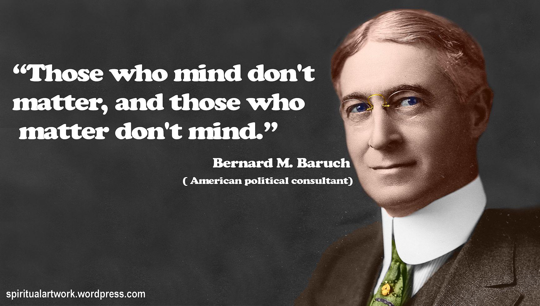 Bernard Baruch's quote #5