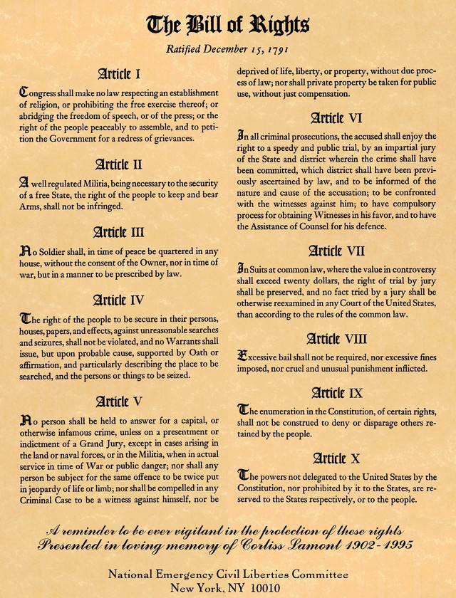 Bill Of Rights quote #2