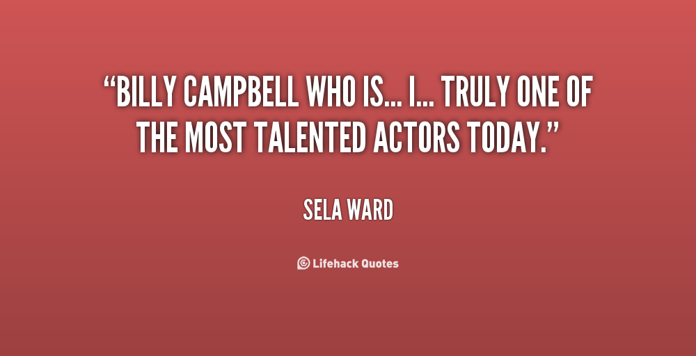 Billy Campbell's quote #5