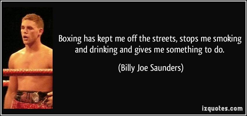 Billy Joe Saunders's quote #1