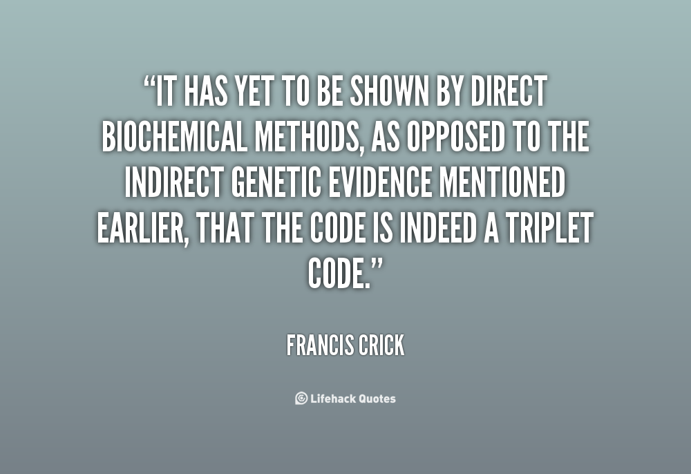 Biochemical quote #2