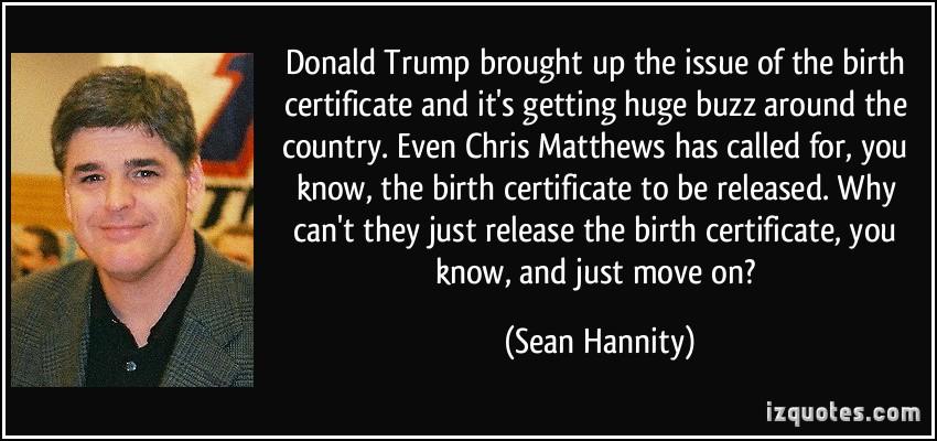 Birth Certificate quote #2