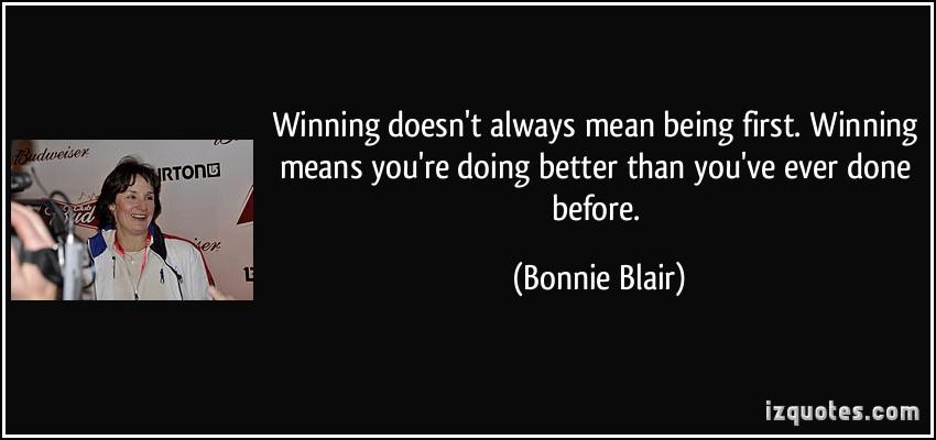 Bonnie Blair's quote #5